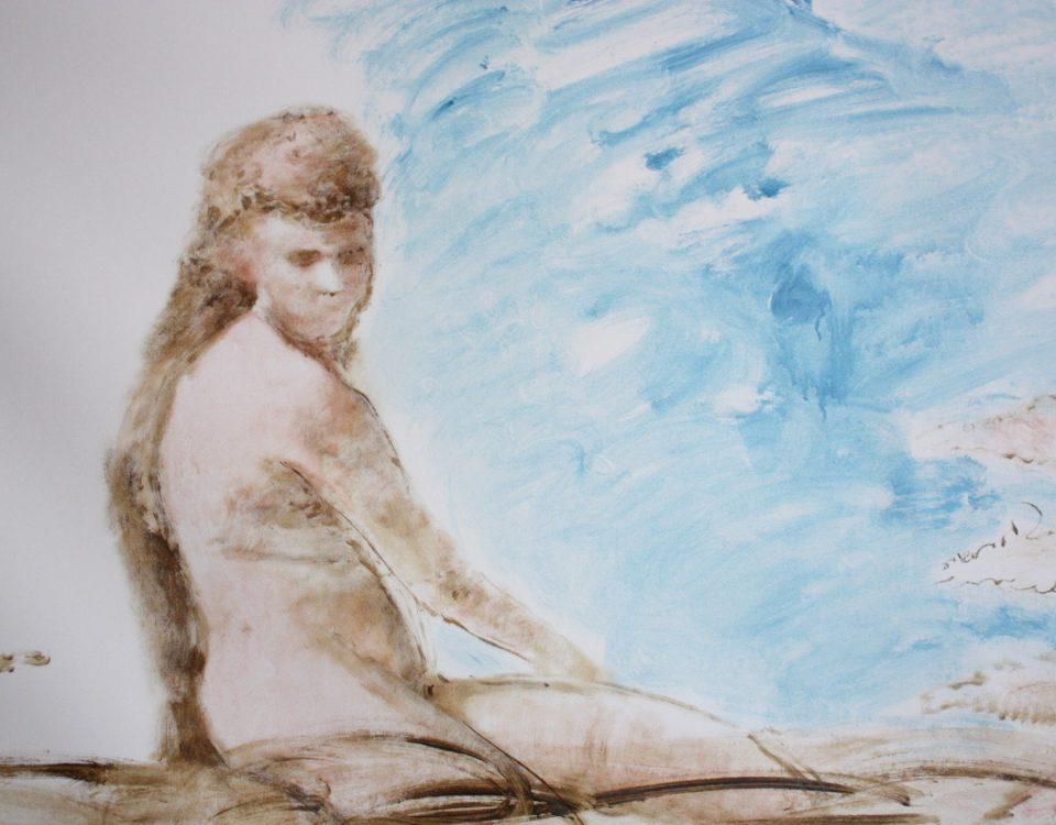 Elisa Filomena - Eden, Casa Vuota, acrilico su tela, particolare B1, 2021